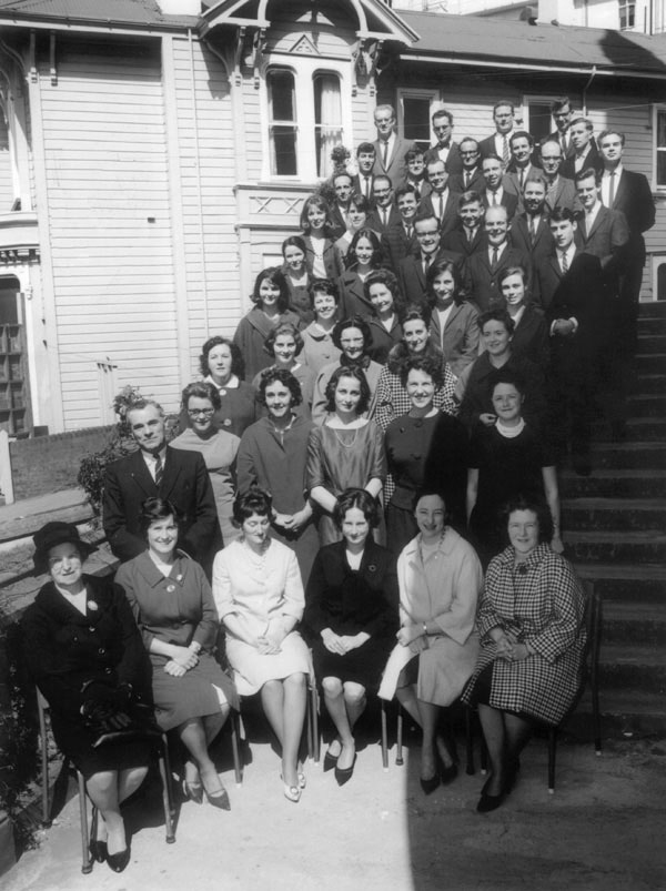 St Mary of the Angels Choir, first official photo with Maxwell at the helm, 1964