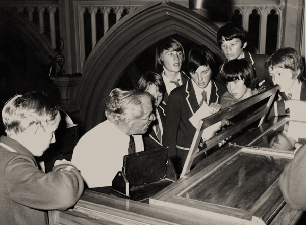 With students from St Patrick's College, St Mary of the Angels, 1975