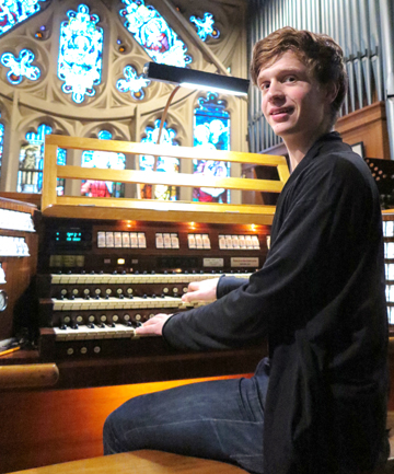 070612 News photo:Budding Wellington organist Thomas Gaynor