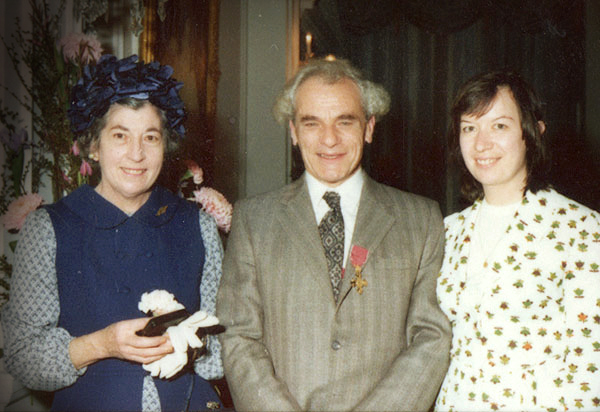 After receiving his OBE for services to music. Here with his wife, Greta (right) and sister, Freda, Wellington 1974