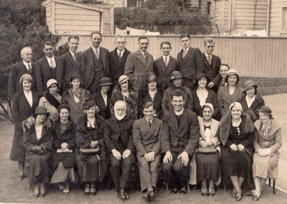 With St Jospeh's Choir, Wellington ca.1935