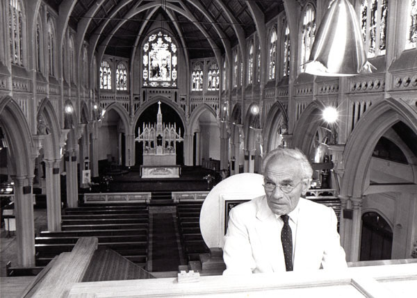 At the Maxwell Fernie Organ, St Mary of the Angels 1980s