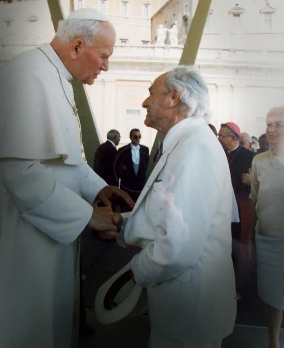Meeting with Pope John Paul II, Rome 1990